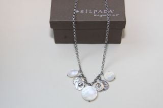 Silpada Sterling Silver Charm Necklace with Mother of Pearl N1830