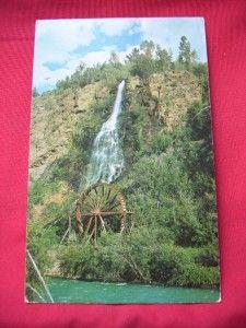 1967 Waterfalls Water Wheel Idaho Springs Co Vintage PC