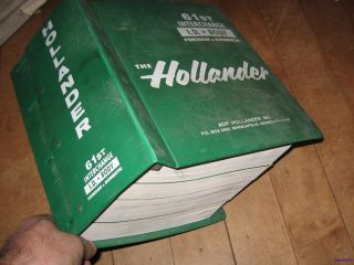 61st ID Body Auto Truck Hollander Interchange Manual 1980 1995 Foreign