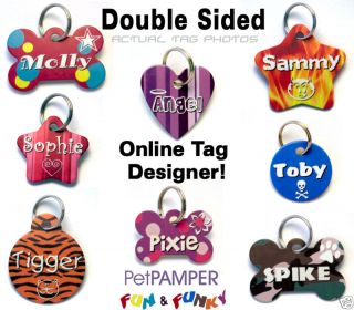 Personalised Customised Pet ID Tag Dog Cat Name Tags