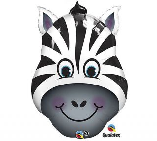 Zany ZEBRA Face Black & White Zoo Circus Jungle Wild Animals Party