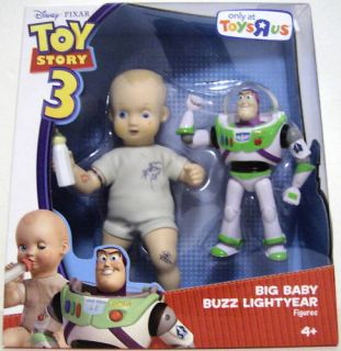 BIG BABY BUZZ LIGHTYEAR Disney Toy Story 3 Movie Figures 2 pack Toys R