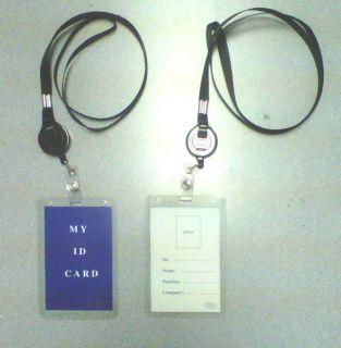 Retractable Black ID Badge Holder Nurse Security Office Alarm Entry