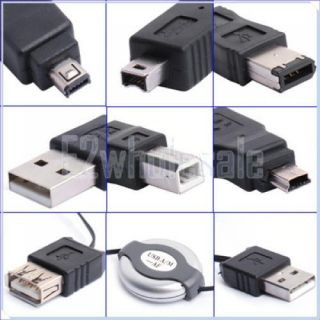 USB to IEEE 1394 Firewire 6 Adapters Cable Travel Kit