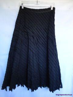 Ideology  Black Cotton Dimensional Asymm Lagenlook Aline Skirt