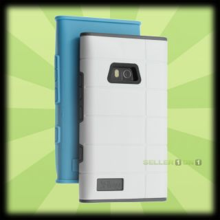 iFrogz Cocoon Case for Nokia Lumia 900 White Shell 2 TPU Gel Blue Grey