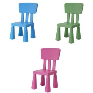 New IKEA Children Kids Chairs Green Blue Pink