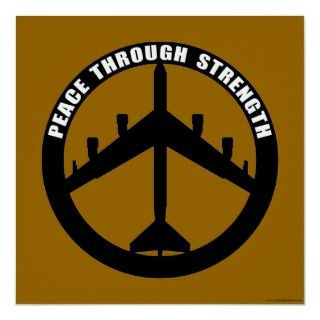 52   Peace through strength   peace symbol Print