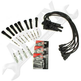Pickup 5.7L Hemi Tune Up Kit 16 Spark Plugs/Ignition Wires & COP Boots