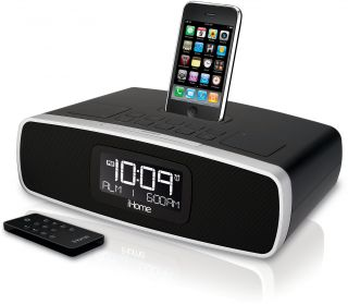 New iHome IA90 App Enhanced Dual Alarm Clock Radio for iPhone iPod