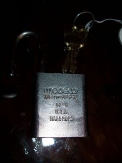 Medeco High Security Padlock with Removable Core Used with 2 Keys
