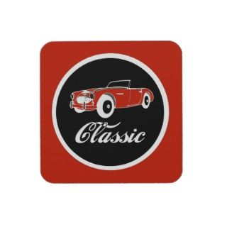 Classic Car Fifties Convertible Beverage Coasters