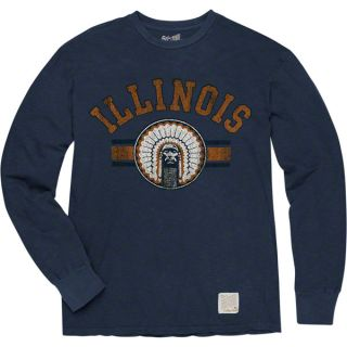 Illinois Fighting Illini Charcoal Vintage Chief Illiniwek Branded Long