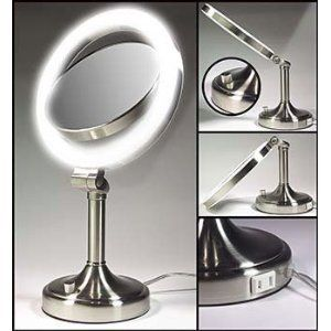 Zadro SLV410 1x 10x Dimmable Lighted Vanity Mirror