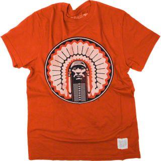 Illinois Fighting Illini Orange Vintage Chief Illiniwek Pride T Shirt