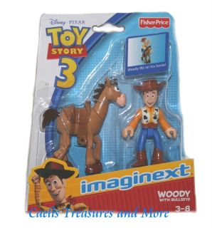 Fisher Price Imaginext Toy Story Woody w Bullseye New