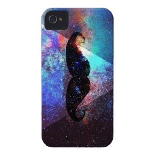 galaxy hipster mustache Case Mate iPhone 4 cases