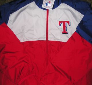 Texas Rangers Windbreaker Jacket Coat 2XL XXL New