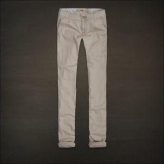 NWTs Hollister Womens Imperial Beach Light Khaki Pants Sz 7R