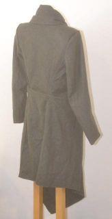 Improvd Size Small Dark Grey Ophelia Wool Shawl Wrap Coat