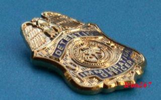 Detention Immigration Officer Mini Badge Lapel Pin