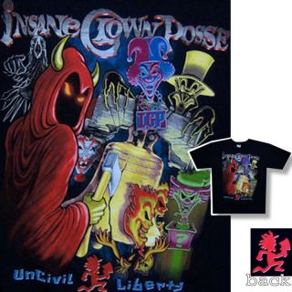 Insane Clown Posse Uncivil Liberty T Shirt 2XL XXL New ICP