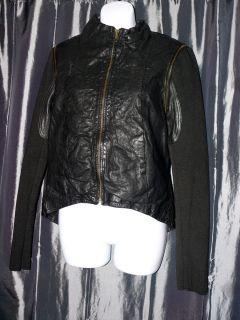 Improvd Lamb Leather Moto Jacket Black Size M