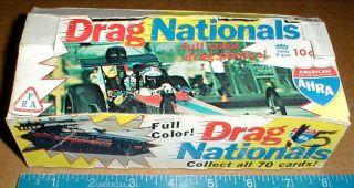 Drag Nationals Fleer Racing Bubble Gum RARE Empty Display Wax Box