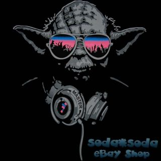 funny DJ YODA T SHIRT trance STAR WARS Club beats Party headphones hip