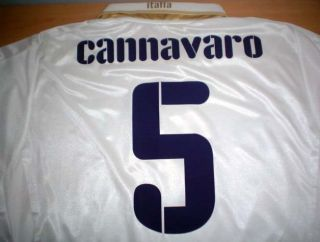 Original Puma Italy Away Soccer Jersey Cannavaro 5 All Sizes