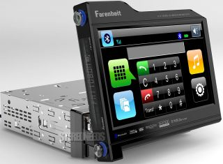 Farenheit in Dash Car Bluetooth 8 3 Touch Screen Monitor DVD CD iPod