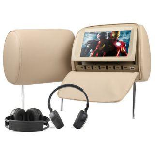 Eonon C1006 In Car DVD 2x 9 inch LCD Car Headrest DVD Player with TAN