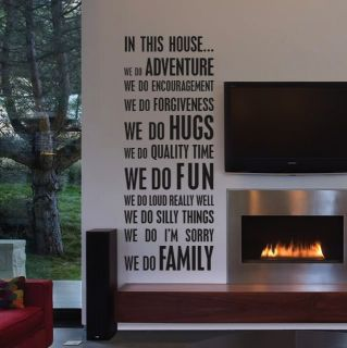 In This House We do Create Your Own Quote Wall Decal