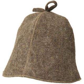 Wool Hat for Sauna Simple Brown Unisex Russian Bath Sauna Banya