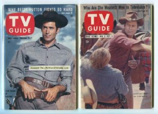 CHEYENNE Clint Walker 1959 TV GUIDE Magazine DR. MORGUS +1957 Bonus NO