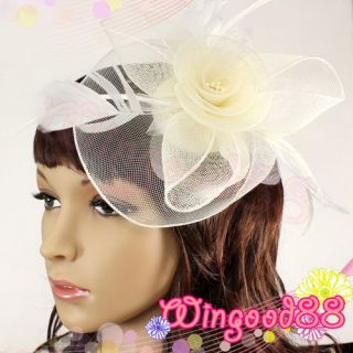 Hair Clip Hairpin Hat Feather Bead Flower Veil Costume Cocktail Party