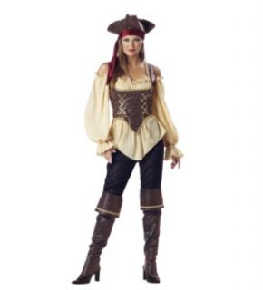 Rustic Pirate Lady Designer Costume Adult Med Costume