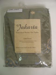 Jakarta Rod Pocket 96 inch One Curtain Panel Sage
