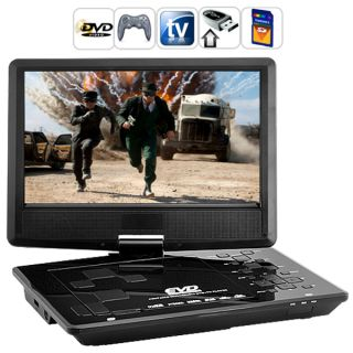 Portable Multimedia DVD Player 10 inch Widescreen 180 Degree Swivel