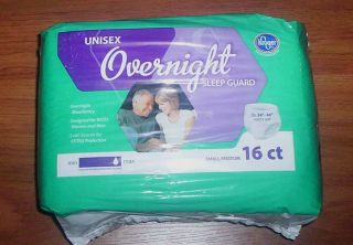 KROGERS Unisex OVERNIGHT Adult DIAPERS Incontinence Aids SMALL MEDIUM