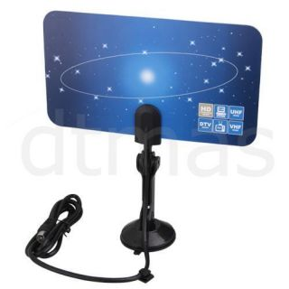 Digital Indoor TV Antenna HDTV DTV Box Ready HD VHF UHF Flat Design