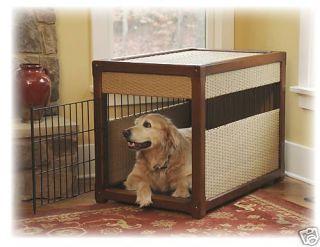 Mr Herzhers Small Indoor Dog House Wicker Pet Crate