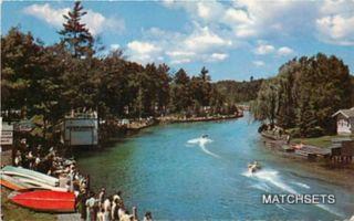 Michigan Marathon Races Indian River Cheboygan County Postcard