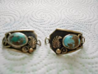 AMERICAN INDIAN  NAVAJO  TURQUOISE STERLING SILVER WATCH BAND c.1979