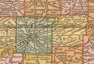 Indiana Map Authentic 1895 Dated Showing Towns Counties Railroads More