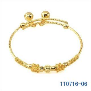 Safe Pretty 9K Real Gold Filled Baby Children Bracelet B385