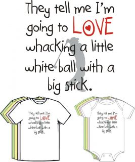 Baby Loves Golf Funny Baby Toddler Clothes All Sizes