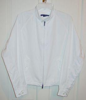 Ralph Lauren Ladies White Golf Jacket Sz Large
