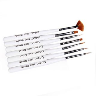 USD $ 5.49   7pcs Nail Art Brushes With White Handle,