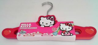 Sanrio 3 Pack Hello Kitty Wooden Hangers Infant Child Children Kids